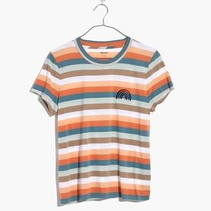 Madewell striped top with rainbow